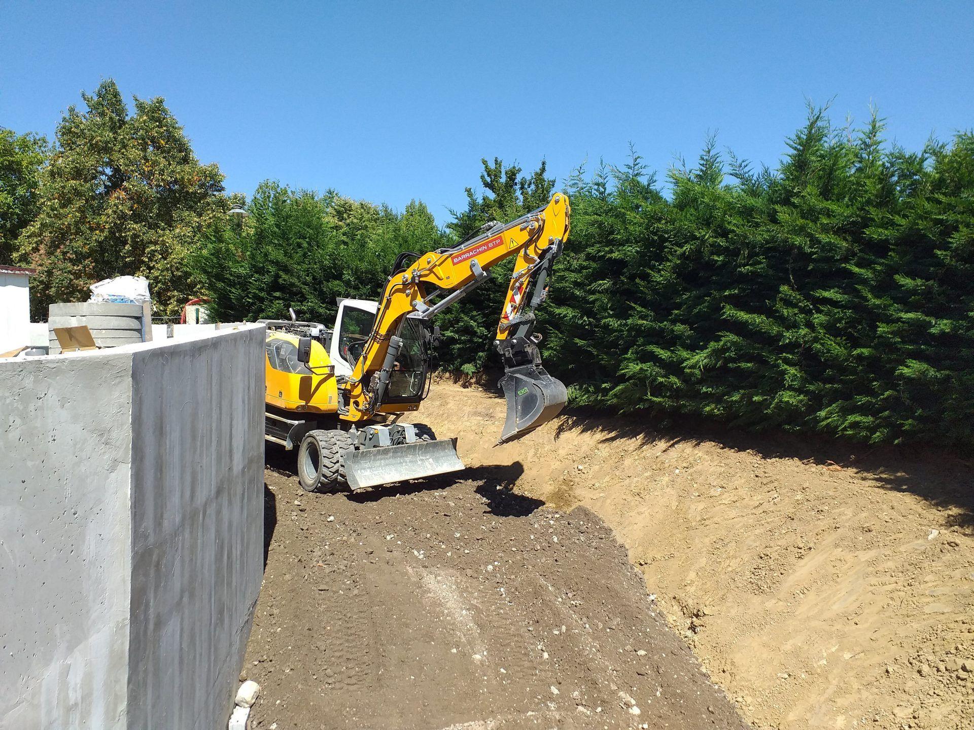 Fosse de rétention sur chantier Clos des Saules - Annecy-le-Vieux - Barrachin BTP